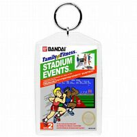Nintendo Nes Video Game Box Cover Stadium Events Keychain