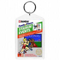 Nintendo Nes Video Game Box Cover Stadium Events Keychain