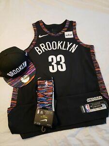wholesale dealer d6a80 8a947 Details about Allen Crabbe 2018-19 Brooklyn Nets Game Worn Jersey Biggie  Smalls & Snapback