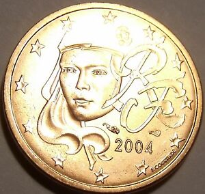 Gem-Unc-France-2004-2-Euro-Cents-Human-Face-We-Have-Gem-Unc-Coins-Free-Shipping