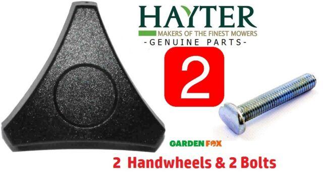 Genuine 2 x Hayter Lawnmower HANDWHEELS & BOLTS  226013-569  &  226024-170 N
