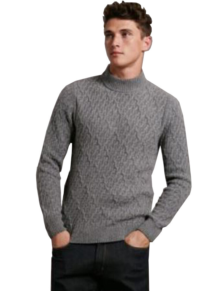 MARKS & SPENCER by AUTOGRAPH Grau Wool Rich Long Sleeve Slim Fit Jumper BNWT