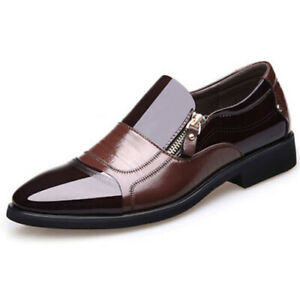 Men-Formal-Wedding-Oxfords-Casual-Leather-Shoes-Pointed-Toe-Dress-Shoes-Big-Size