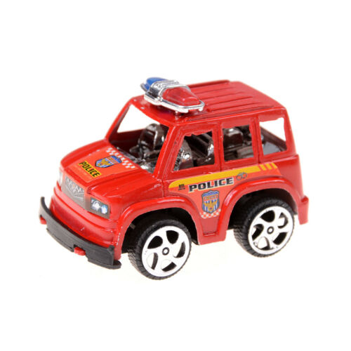 2X Plastic Pull Back Diecasts Toy s Cars Children Gift Police CaHFBJ