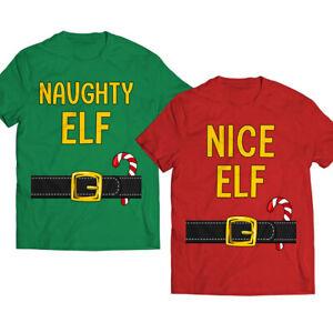 Naughty-Elf-Couple-Christmas-Costume-Santas-List-Matching-Pajama-T-Shirt