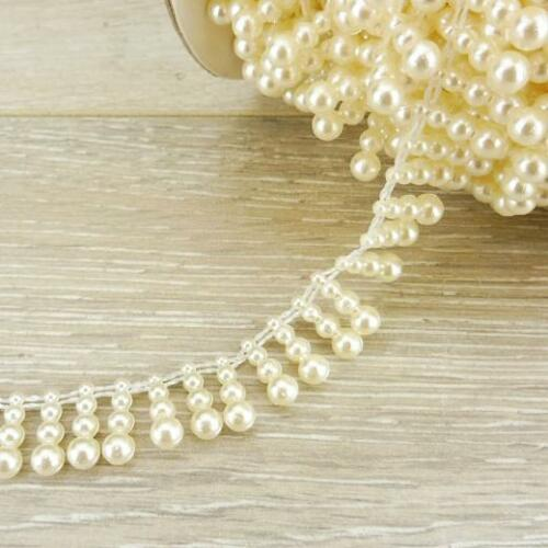 Buddly Crafts 15mm Drop Pearl Beads String 1m