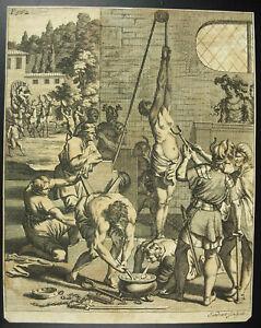 Agrippina-Thusnelda-Folterung-Der-Zauberin-Astree-J-Sandrart-1690-Germany-Xvii
