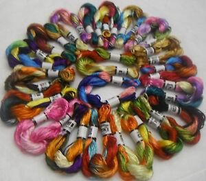 20-Madejas-Grande-Seda-Hilado-Multi-Colores-Hilos-De-Bordado-Alta-Calidad
