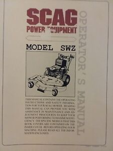 Details about SCAG Walk-Behind SWZ Lawn Garden Tractor Owner & Parts on atlas wiring diagram, murray wiring diagram, kawasaki wiring diagram, ayp wiring diagram, case wiring diagram, gravely wiring diagram, mtd wiring diagram, roper wiring diagram, columbia wiring diagram, honda wiring diagram, agway wiring diagram, unverferth wiring diagram, sears wiring diagram, john deere wiring diagram, toro wiring diagram, wheelhorse wiring diagram, scotts wiring diagram, echo wiring diagram, gilson wiring diagram, simplicity wiring diagram,