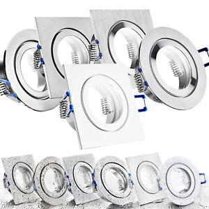Details zu LED Bad Einbaustrahler Set IP44 GU10 230V 1W 3W 5W 7W dimmbar  Feuchtraum MAR44