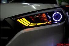 Head Light Surface emitting LED Circle Eye+Turn Signal For 2016+ Hyundai Tucson