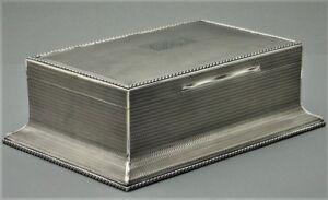 Monumentale-Art-Deco-Zigarren-Kiste-925er-Silber-England-Silver-Cigar-Box-P127