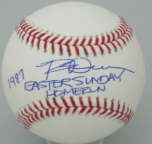 Brewers ROB DEER Signed Official MLB Baseball AUTO w/ 1987 Easter Sunday HR
