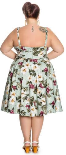Hell Bunny TAHITI Hibiscus Tropical TIKI Swing Dress KLEID Plus Size Rockabilly