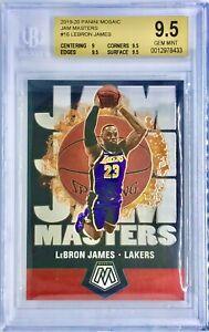 2019-20 Panini Mosaic LeBron James Jam Masters BGS 9.5 Gem Mint Lakers 🔥📈