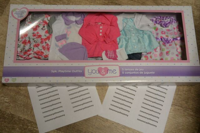 Doll Playtime Outfits You And Me 5 Pack Fits 12 14 Inch Dolls For Sale Online Ebay