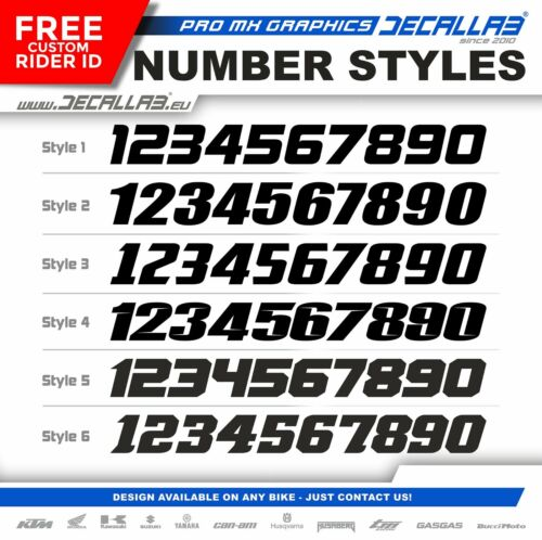 YAMAHA YZ 450 F 2018 2019 YZ 250 F 2019 MX Graphics Decals Stickers Decallab