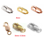 ITALIAN-925-STERLING-SILVER-Rose-Gold-Filled-LOBSTER-Trigger-CLASP-Connector-8mm thumbnail 1