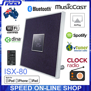 Details about Yamaha ISX-80 MusicCast Bluetooth AirPlay Clock Radio 30W  Speaker – Purple