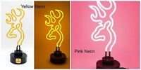 Neon Light, Browning Buckmark, Yellow Or Pink - Great For Bar Or Kids Room