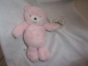 786744657 carters precious firsts solid pink bear teddy plush lovey soft toy ...
