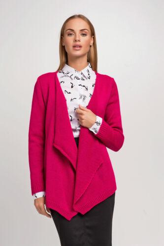 Ladies Waterfall Blazer Long Sleeve Knitted Chunky Jacket Shrug Size 8-12 FAS24