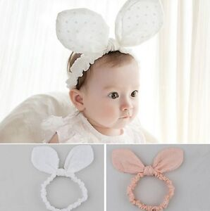 Kids Baby Girl s Rabbit Bunny Ear Headband Hair band Headwear Bows ... 6ee03d5553f