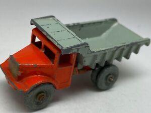 Vintage-Moko-Lesney-Matchbox-N-6-Camion-De-Cantera-Gris-Metal-Wheels