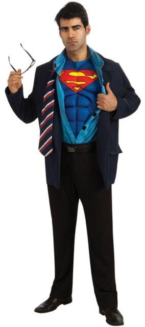 Clark Kent Adult Costume Superman Muscle Chest Mens Jacket ...