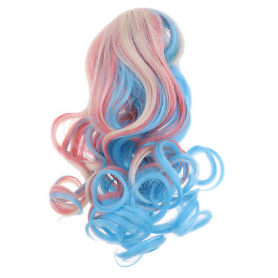 Fashion Long Big Wave Hair Wig for 1//6 Blythe Doll DIY Accessory Pink Blue