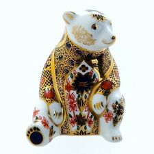 Royal Crown Derby 1st Quality Old Imari Honey Bear Paperweight