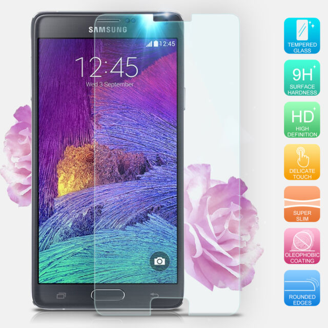 Premium Real Tempered Glass Screen Protector For Samsung Galaxy Note 4 Accessory