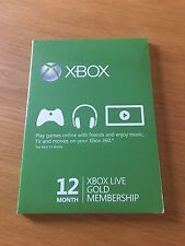 Microsoft Xbox Live Prepago mismo Membresía Dorada por 12 meses