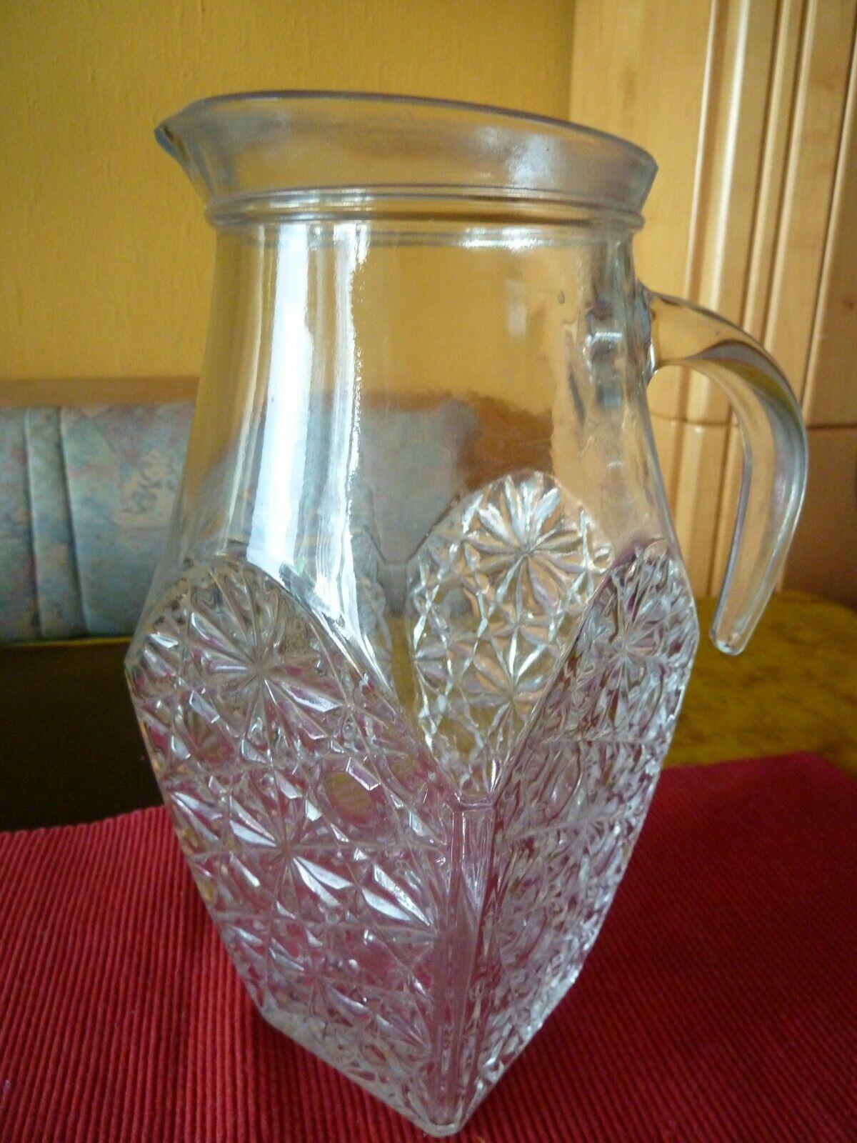 Glaskrug mit Deckel und Ausguss Große Kapazität für Wasser Milch Eistee