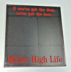 Miller High Life Beer Sign Mirror Bar Vintage Old Milwaukee Brewery