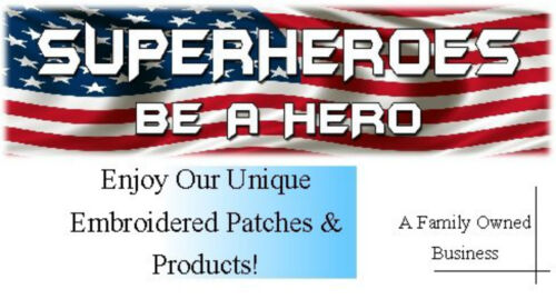 USA AMERICAN FLAG EMBROIDERED PATCH WAVING WAVY IRON-ON SEW-ON GOLD BORDER