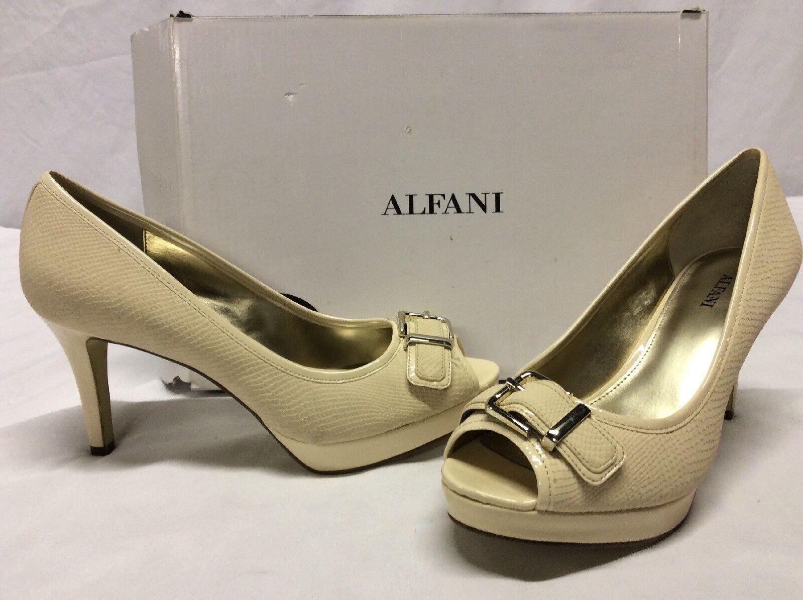 Alfani SHAYLA Women's Heels Open Toe shoes,Bridal. Buttermilk, Size 8 M