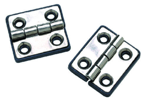 """Polished Stainless Steel Butt Hinges W// Black Nylon Base Plate 1-5//16/"""" x 1-1//2/"""""""