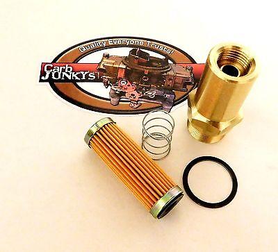 "Rochestert Quadrajet Fuel Fitting Conversion Brass 1/""in x 20x 5//8/""x18 Rochester"