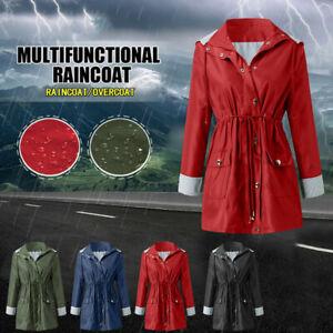Women-Rain-Jacket-Outdoor-Plus-Size-Waterproof-Hooded-Windproof-Loose-Coat-Tunic