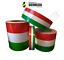 Fascia banda adesiva Tricolore bandiera Italiana Italia a strisce per casco new