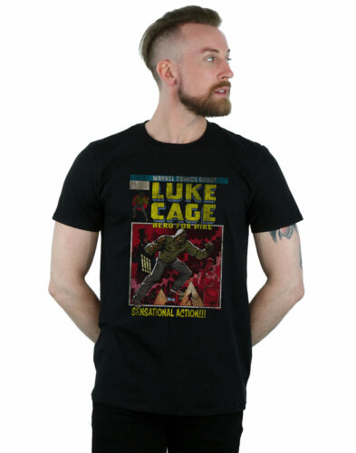 Marvel Universe Men/'s Luke Cage Distressed Yourself T-Shirt