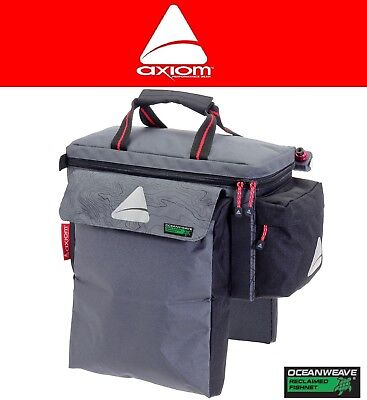 Axiom Seymour Oceanweave P9 Bike Trunk Rack Bag Gear Black /& Grey Rear Pack NEW