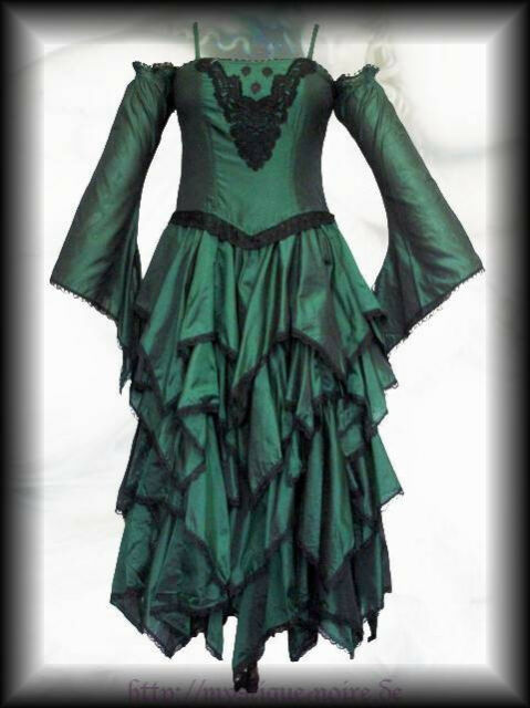 Steampunk Cascading Elven Dress Goth Fairy Petal Victorian Medieval