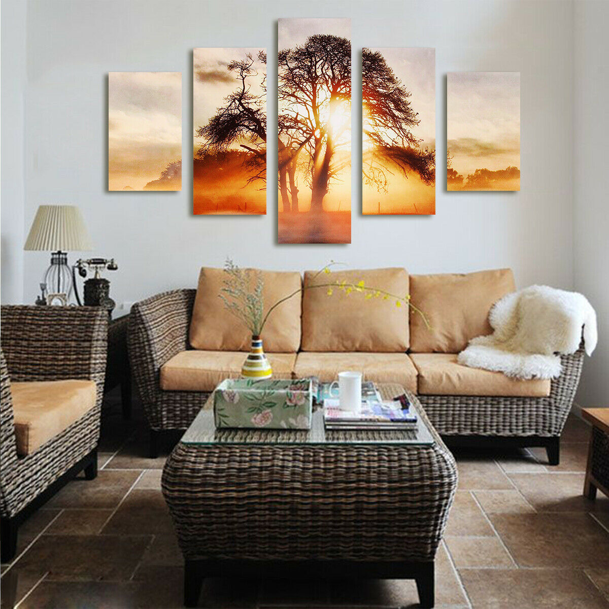 Modern Large Unframed Picture Abstract Canvas Wall Art Oil Painting Home Decor 6