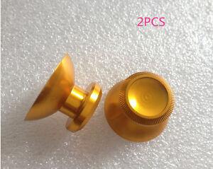 I-2x-Gold-Chrome-Plating-Analog-Thumb-Stick-for-Microsoft-Xbox-360-Controller