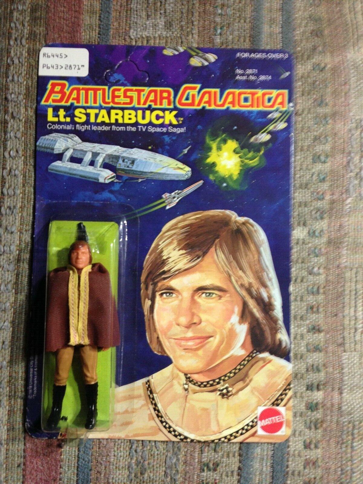battlestar Galactica Lt. Starbuck 1978 Mattel Unpunched Excellent Condition