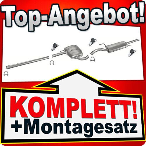 Auspuff VW PASSAT 35i B4 1.6 1.8 Auspuffanlage 873