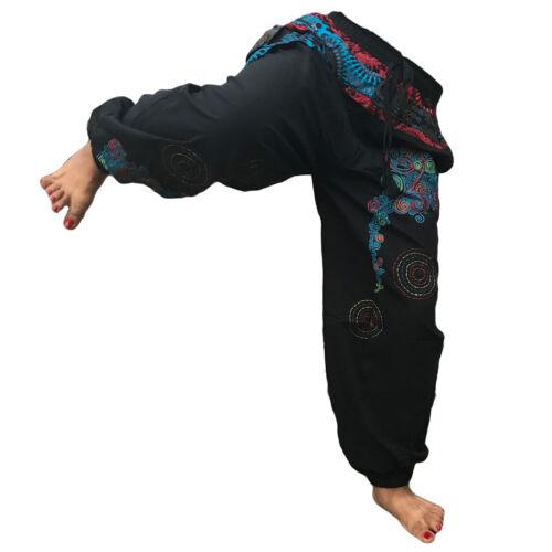 Pantaloni Harem Pantaloni Da Uomo Hippy OM Patch Cotone Hippie Baggy Ali Baba Borsa Tasca