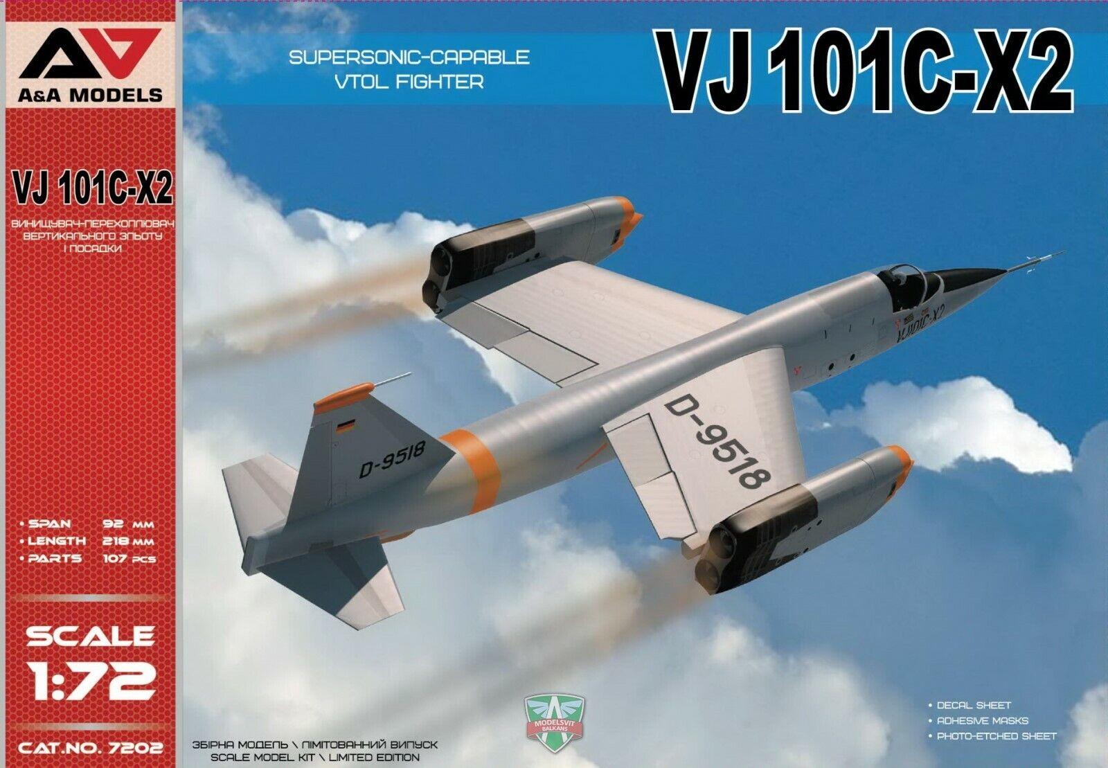 A &A modelllllerler 7202 1 72nd skala VJ 101C -X2 Supersonic Capable VTO Fighter